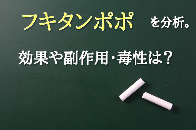 フキタンポポ 呼吸器